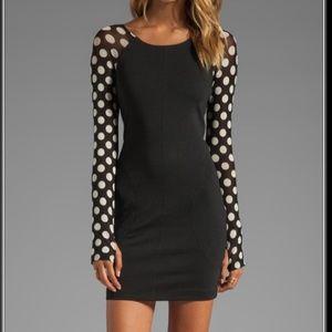 One Teaspoon Heart of Rose Polka Dot Black Dress